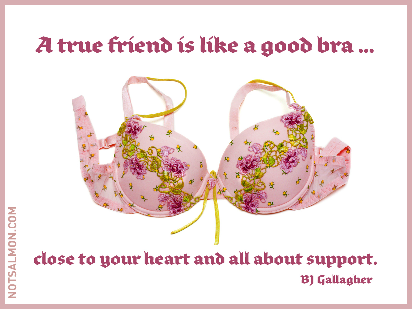 A true friend is like a good bra close to your heart Qualities of a good architect