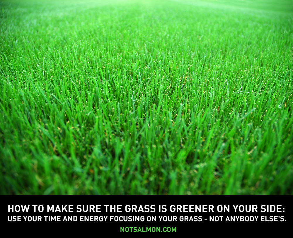 Grass Is Always Greener Quotes: The Grass Is Always Greener On The Other Side.