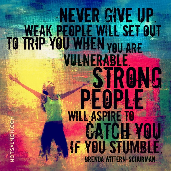 never give up karen salmansohn