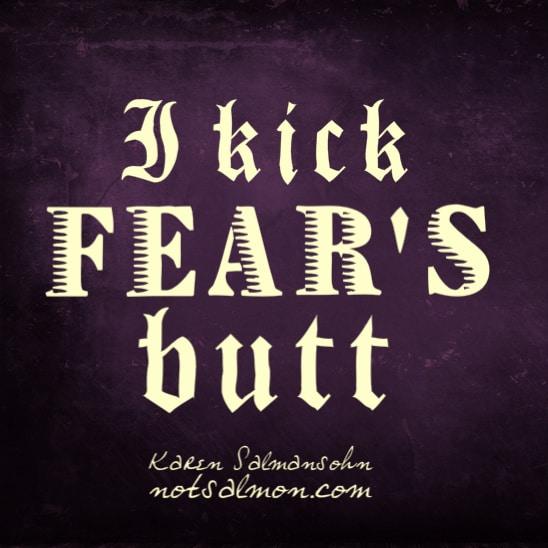 kick fear's butt karen salmansohnn