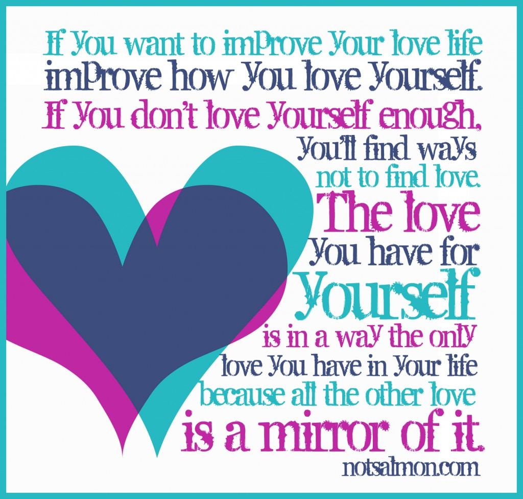 love yourself mirror karen salmansohn quote