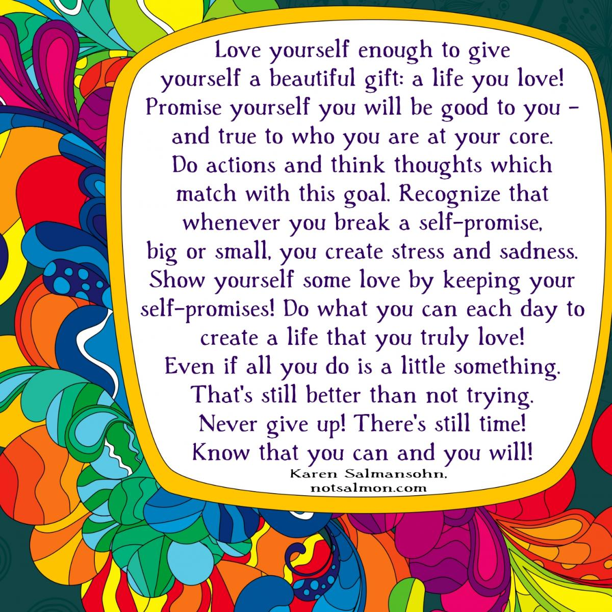 40 Funny Self Love Quotes: Love Yourself Enough To Give You A Beautiful Gift Karen