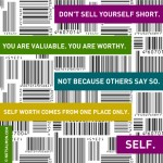 POSTER-self worth bar code med