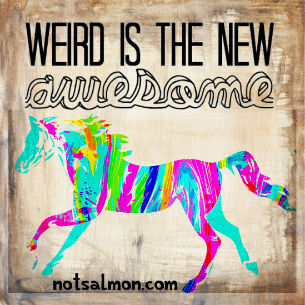 Weird horse awesome - Poster