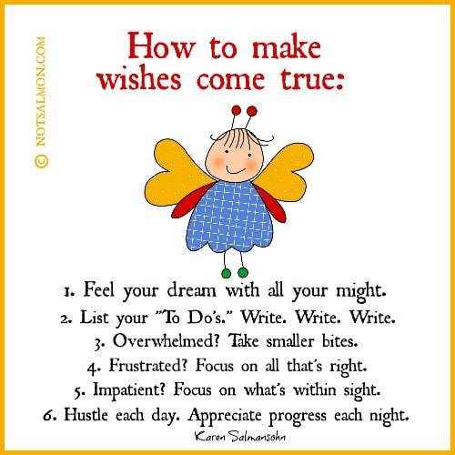 How To Make Wishes Come True Karen Salmansohn