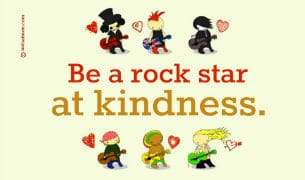 Be a kindness rock star - poster