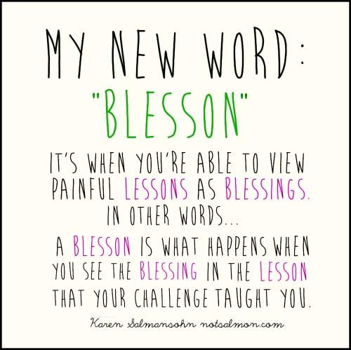 The definition of the word Blesson Karen Salmansohnn
