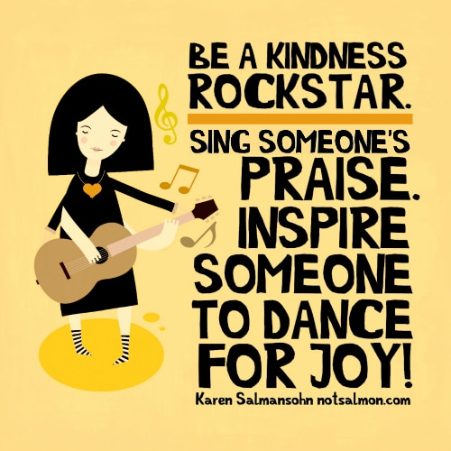 kindness rockstar quote poster