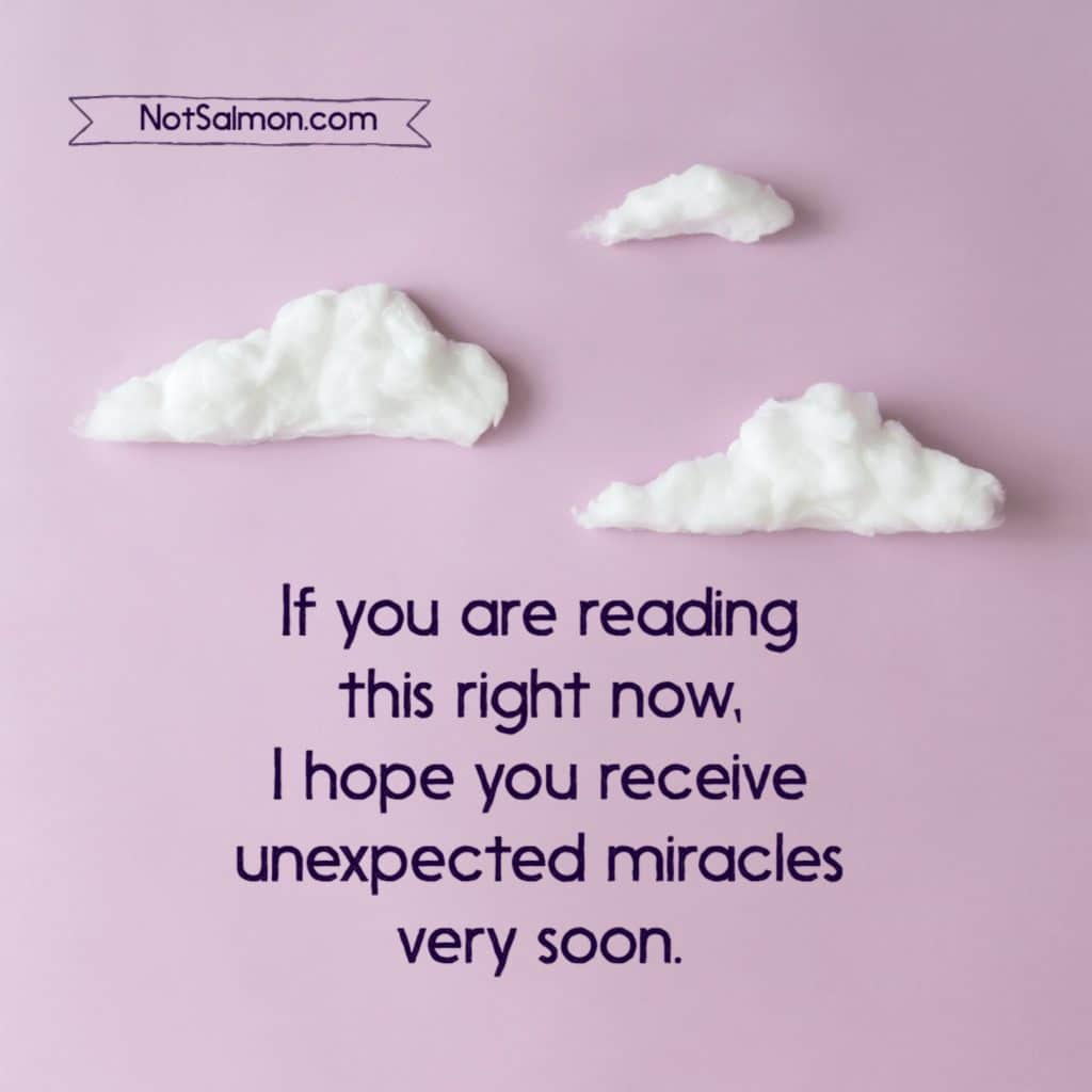 unexpected miracles quote