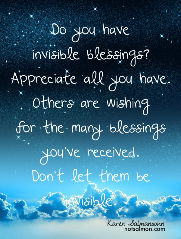 Do you have invisible blessing?