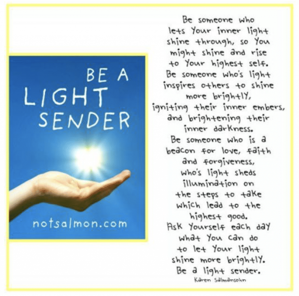 be a light sender description