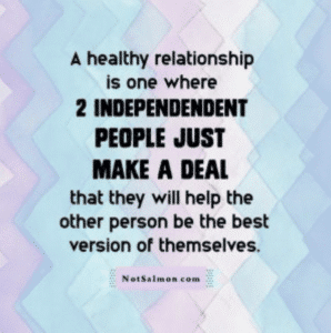 healthy relationship two people make a deal to be their best selves