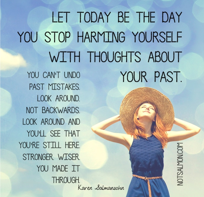 stop harming yourself with thoughts karen salmansohn quote