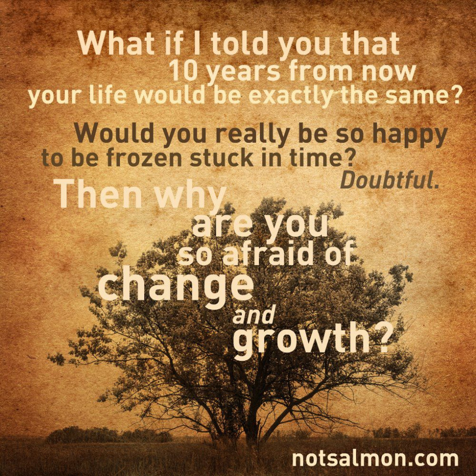 Quotes About Change And Growth: What If I Told You 10 Years From Now Your Life Would Be