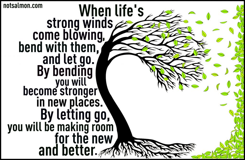 life's strong winds come blowing karen salmansohn quote