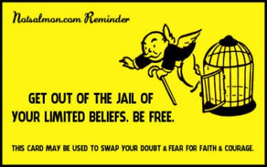 Get out of jail karen salmansohn for Get out of jail free card template