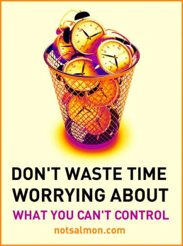 waste time worrying about what you can't control karen salmansohn quote