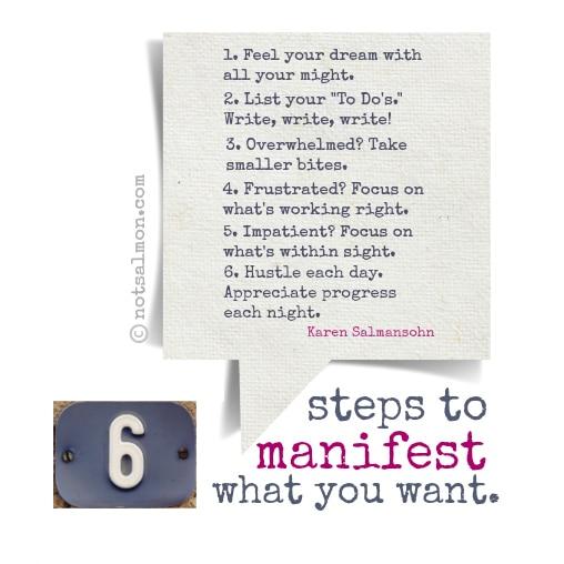 steps to manifesting