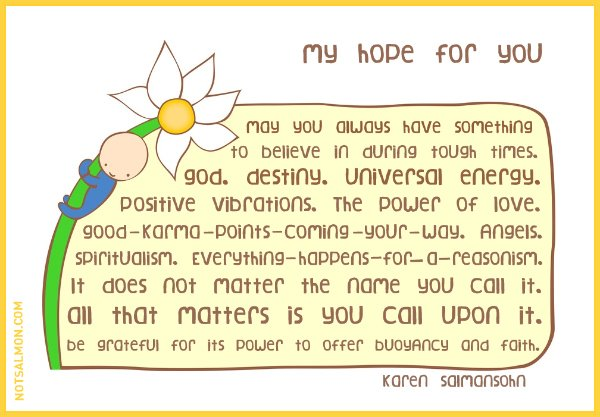 believe hope quote karen salmansohn