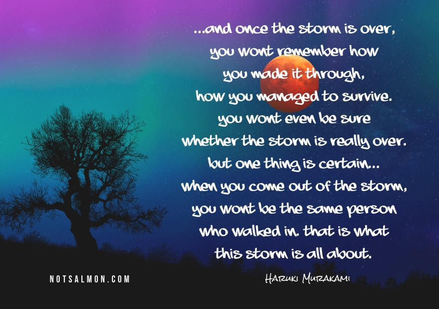 one of my favorite haruki murakami quotes on surviving challenges