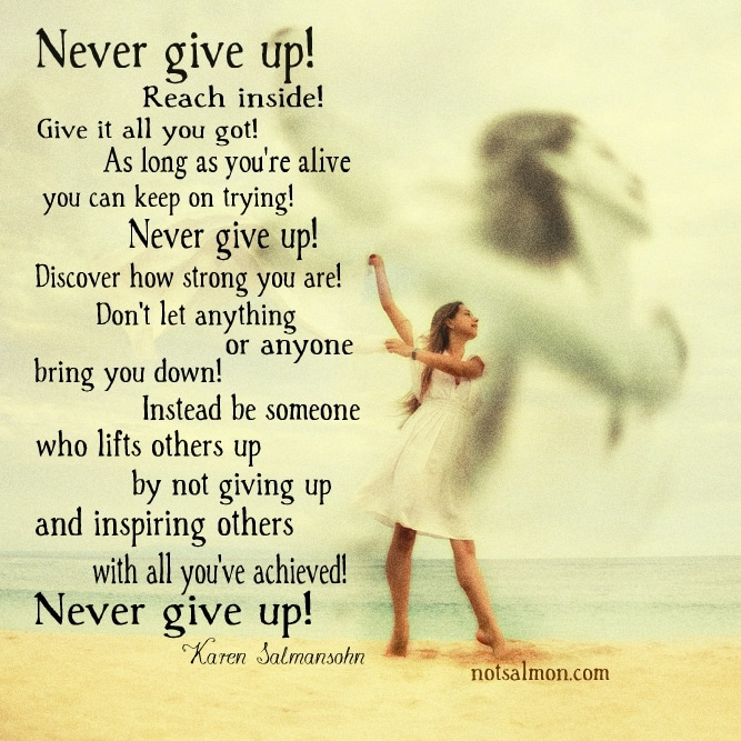 never give up power of belief