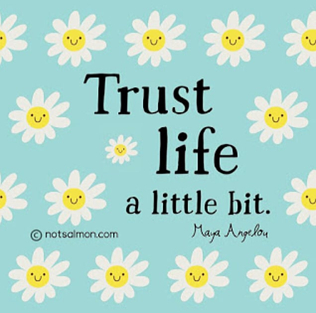 quote trust life maya angelou