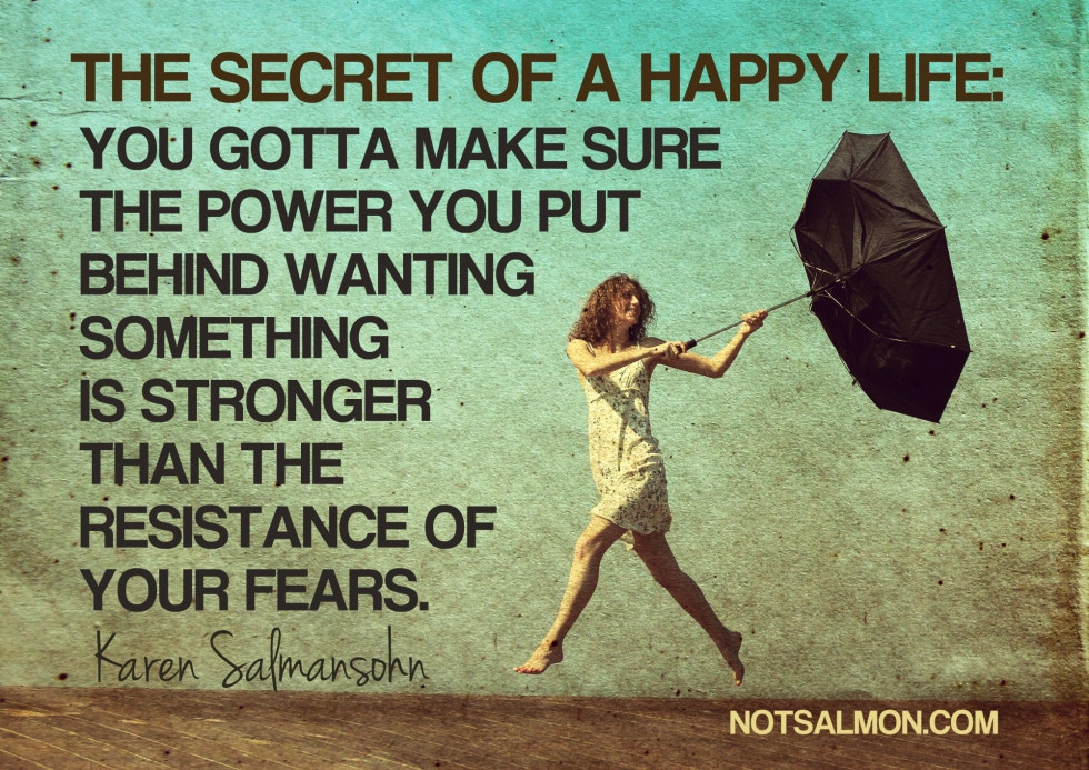 the secret of a happy life