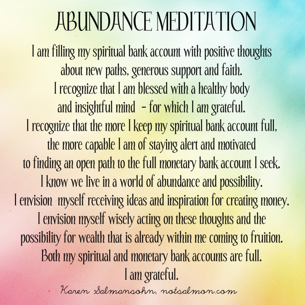a powerful abundance meditation