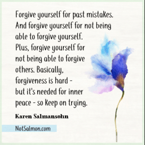 forgive yourself about past mistakes