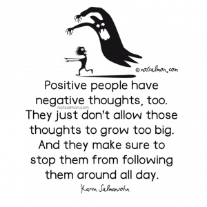 stop negative thoughts from following you around