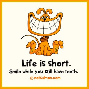 smile while you have teeth
