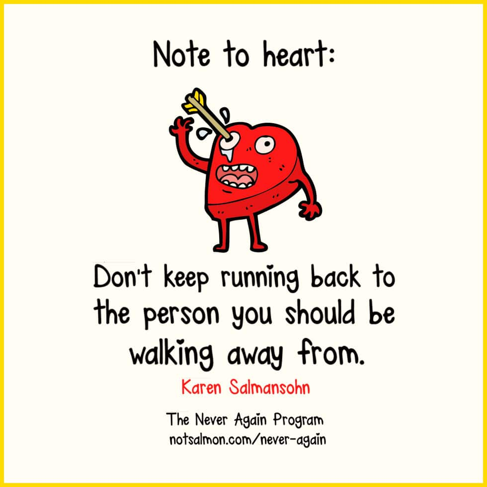 note to heart running back karen salmansohn notsalmon