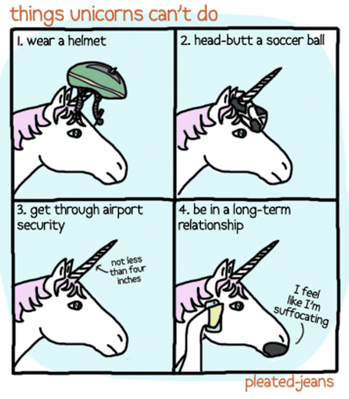 funny unicorn joke about things unicorns can't do