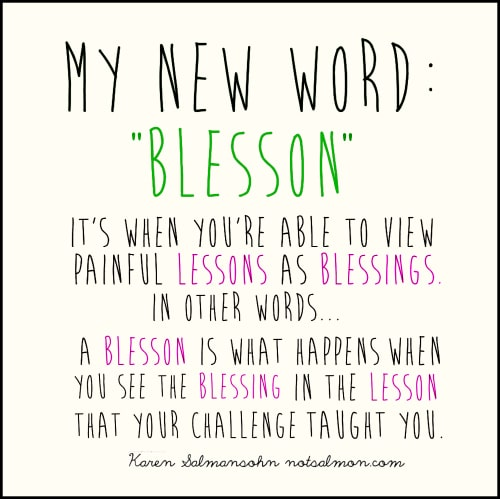my word blesson when you view lessons as blessings