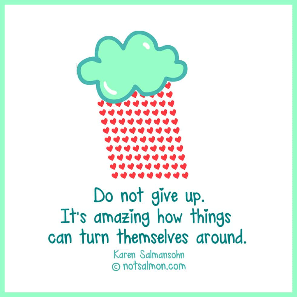 encouragement not to give up