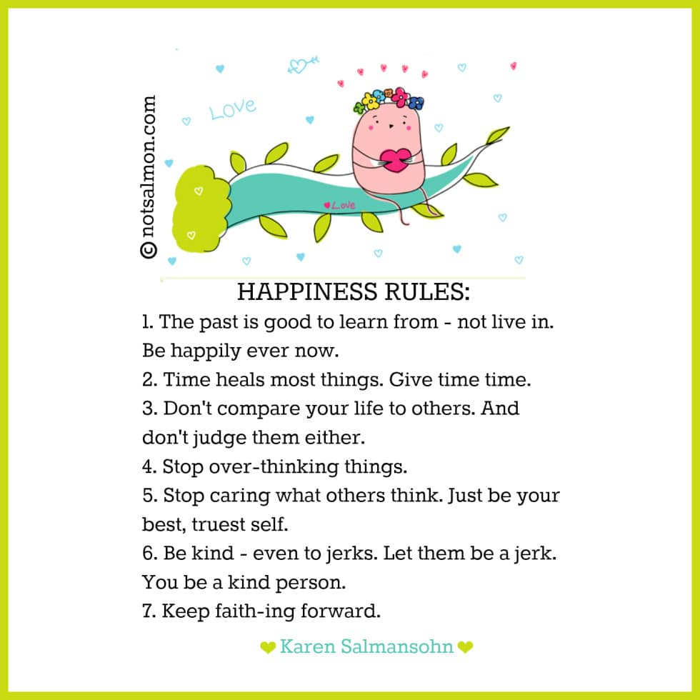 7 Practical and Simple Rules For A Happy Life quote poster