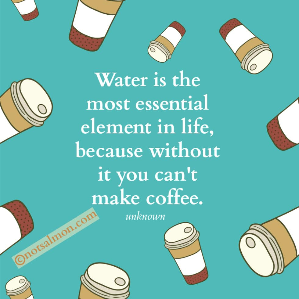 poster water coffee