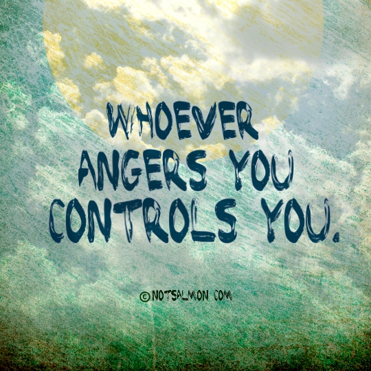 quote whoever angers you controls you move on