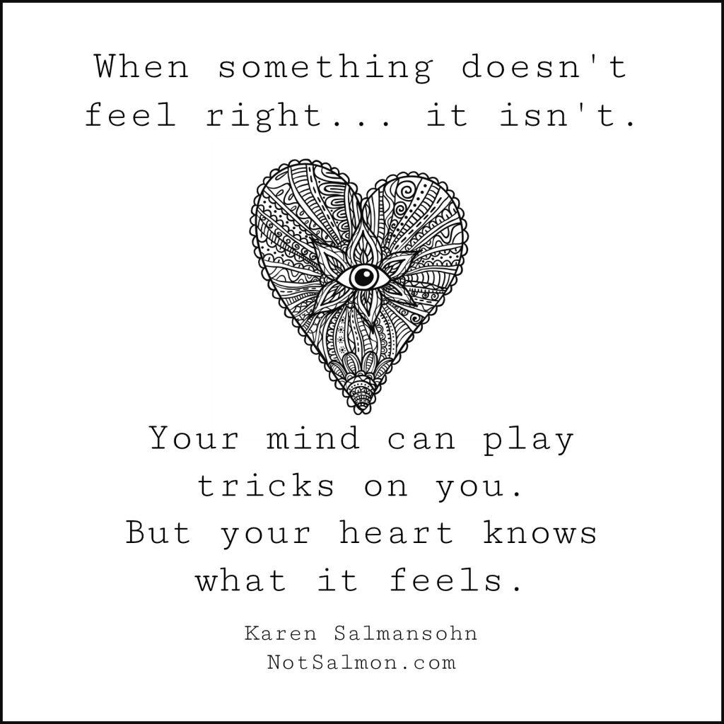 healing heart quote karen salmansohn