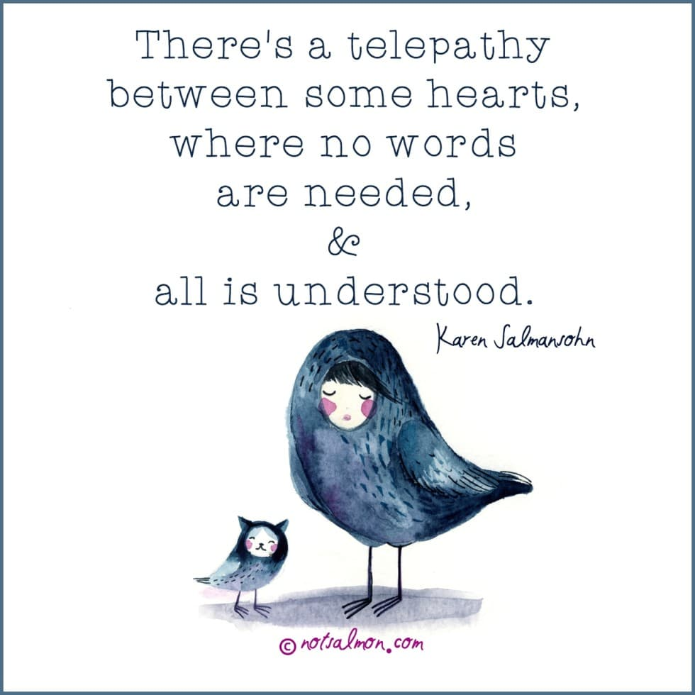 love is a telepathy of the heart