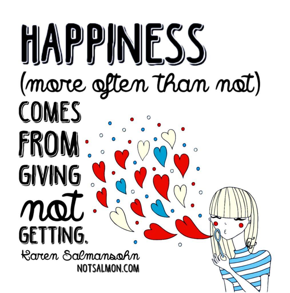 happiest life quote karen salmansohn