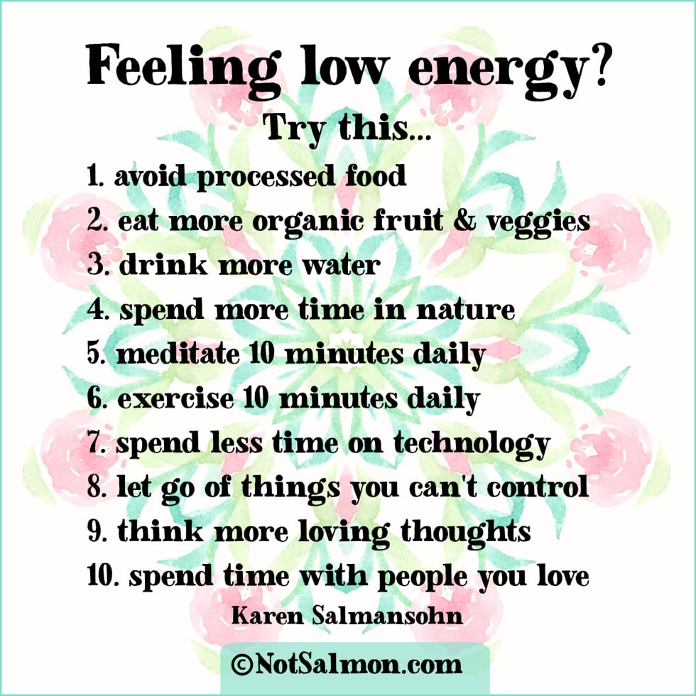 need extra energy karen salmansohn