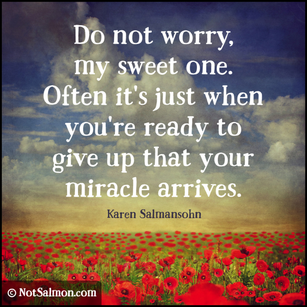 quote sweet one miracle