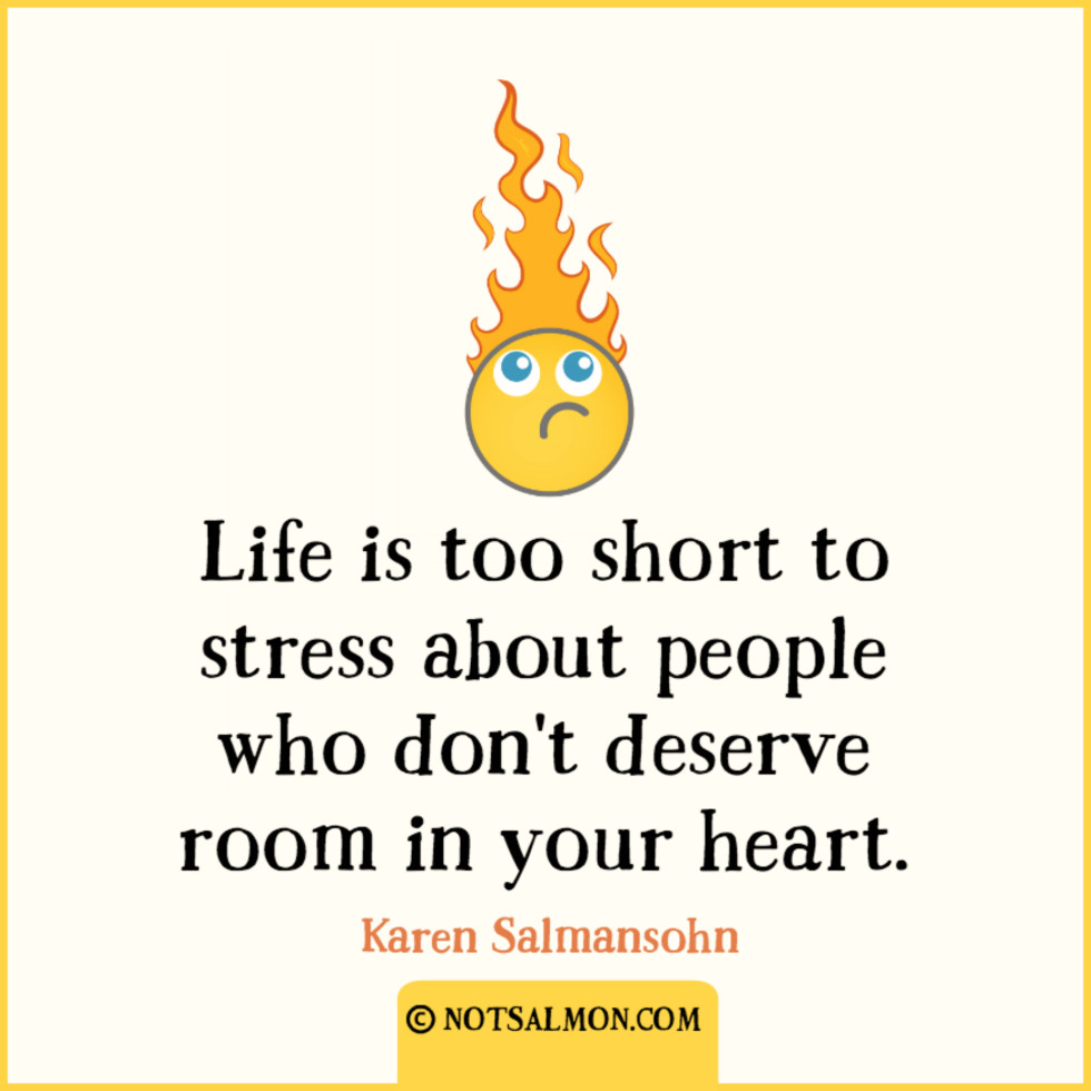 QUOTE STRESS people deserve fire head