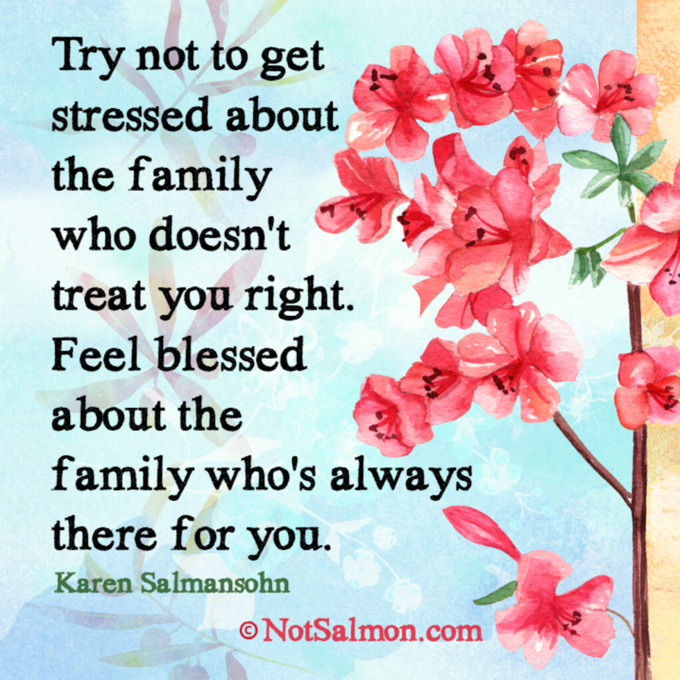quote family stressed blessed