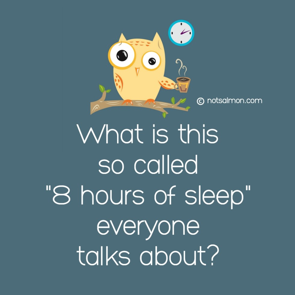 quote sleep owl what is this so called 8 hours sleep karen salmansohn