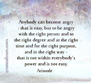 quote anger aristotle