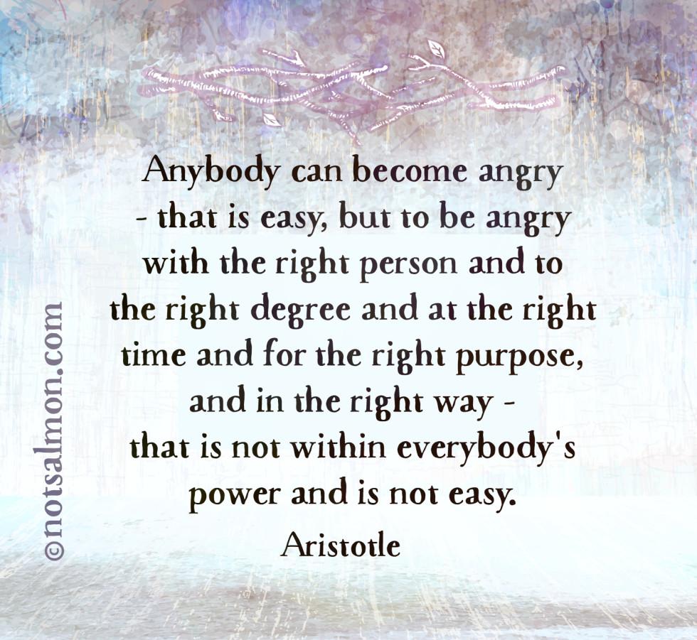 quote anger aristotle