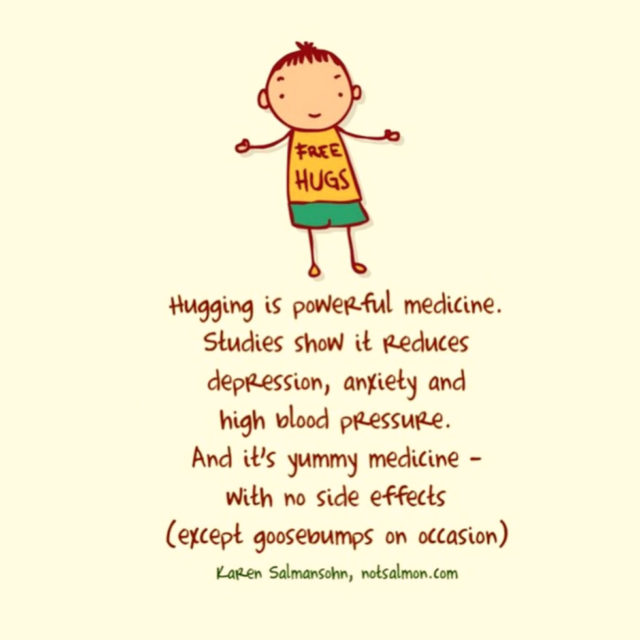 quote hug powerful medicine