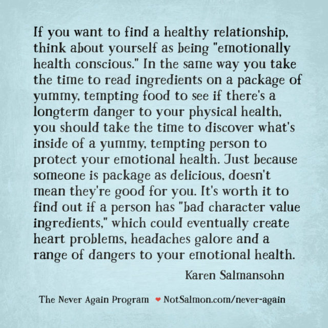 quote emotionally healthy never again